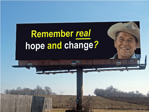 Reagan Billboard in Minnesota